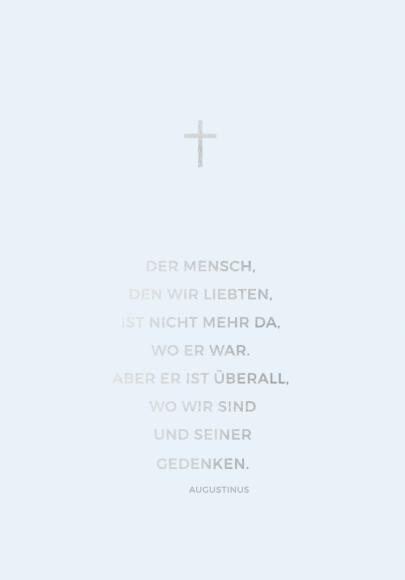 Doppelkarte: Der Mensch, den wir liebten (Augustinus)