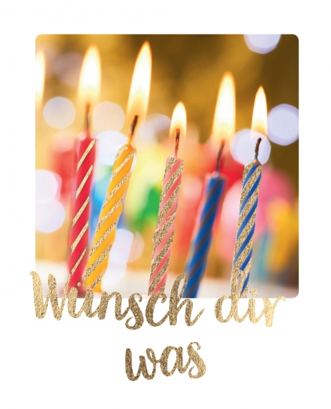 Mini-Postkarte: Wünsch dir was