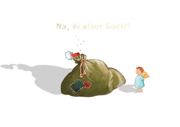 Postkarte: Na, du alter Sack