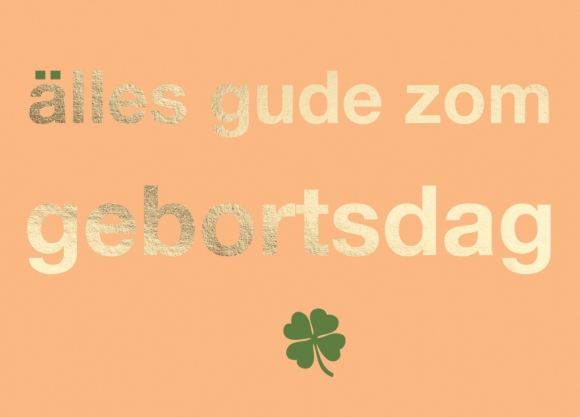 Postkarte: Älles Gude zom Gebortsdag