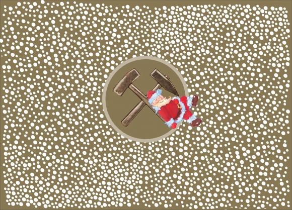Postkarte: Weihnachtsmann auf Hammern
